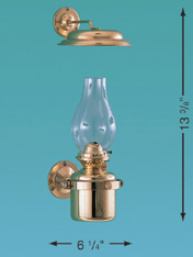Weems & Plath 8917/O Gimbal Lamp with Smoke Bell