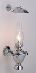 Weems & Plath 918 Chrome Atlantic Gimbal Oil Lamp with Smoke Bell