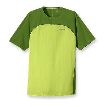 Patagonia Mens Short Sleeve Air Flow Shirt Lemon Lime (Spring 2012)