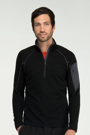 Icebreaker Mens RF260 Sierra Long Sleeve Half Zip Black/ Monsoon (Autumn 2012)