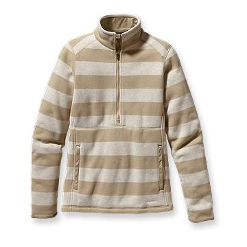 Patagonia Womens Better Sweater Stripe Marsupial Aaren Stripe: Pale Khaki (Autumn 2012)