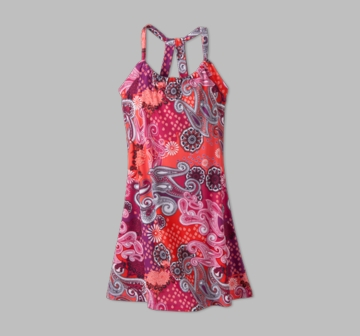 Prana Womens Quinn Dress 'Short' Length Berry Garden (Spring 2013)