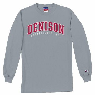 Denison Basic Long Sleeve Tee Heather Grey
