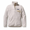 Patagonia Womens Re-Tool Snap-T Raw Linen: White X-Dye