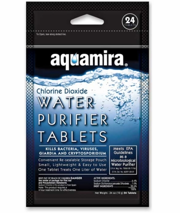 Aquamira H20 Purifying Tablets (24 Pack)