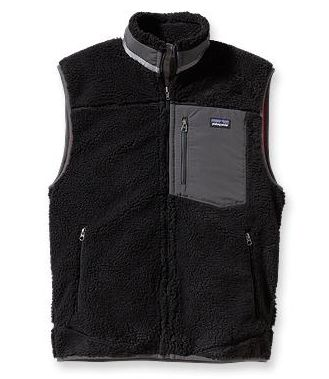 Patagonia Mens Classic Retro-X Vest Black w/ Forge Grey