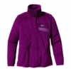 Patagonia Womens Re-Tool Snap-T Pullover Ikat Purple: Ikat Purple X-Dye (Past Season)