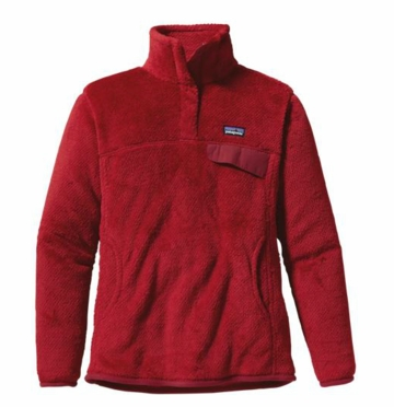 Patagonia Womens Re-Tool Snap-T Pullover Red Delicious: Wax Red X-Dye (Past Season)