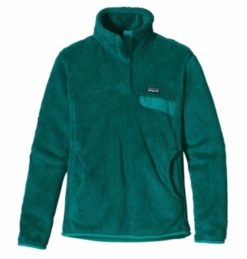 Patagonia Womens Re-Tool Snap-T Pullover Teal Green: Tidal Teal X-Dye (Autumn 2013)