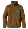 Patagonia Womens Re-Tool Snap-T Pullover Thatcher Brown: Dark Walnut X-Dye (Past Season)