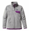 Patagonia Womens Re-Tool Snap-T Pullover Tailored Grey: Nickel X-Dye with Ikat Purple (Spring 2014)