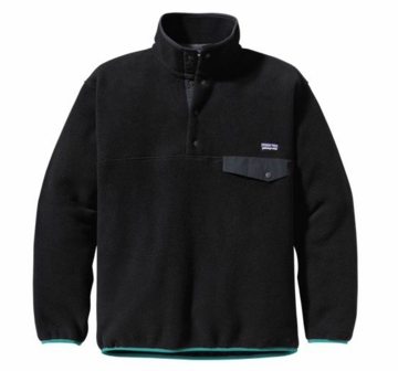 Patagonia Mens Synchilla Snap-T Pullover Black w/ Rockwall