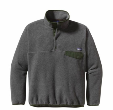 Patagonia Mens Synchilla Snap-T Pullover Nickel w/ Urbanist Green  (Past Season)