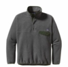 Patagonia Mens Synchilla Snap-T Pullover Nickel with Urbanist Green (Autumn 2013)