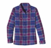 Patagonia Womens Long-Sleeved Fjord Flannel Shirt Tahquitz: Oasis Blue (Autumn 2013)