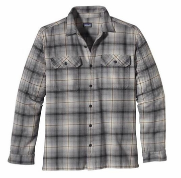 Patagonia Mens Long-Sleeved Fjord Flannel Shirt Dawn Wall: Nickel (Autumn 2013)