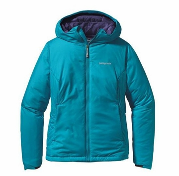Patagonia Womens Micro Puff Hoody Curacao with Blue Butterfly (Autumn 2013)