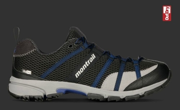 Montrail Mens Mountain Masochist Black/ Blue Chip Out Dry (Past Season)