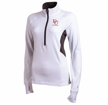 Denison Under Armour Cold Gear Compression 1/2 Zip White