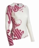 Icebreaker Womens BF200 Oasis Crew Scroll Snow/ Cerise Print (Autumn 2012)