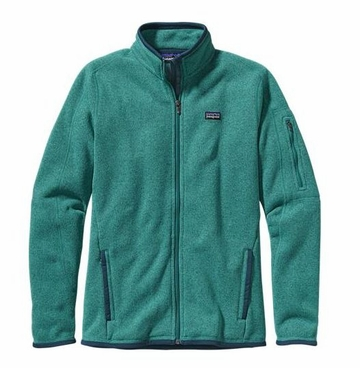 Patagonia Womens Better Sweater Jacket Teal Green w/ Tidal Teal (Autumn 2013)