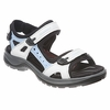 Ecco Womens Yucatan Sandal Shadow White/ Blue Bell/ Black