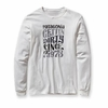 Patagonia Mens Long Sleeve Gettin Dirty T-Shirt White (Spring 2012)