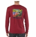 Patagonia Mens Long-Sleeved World Trout Fire T-Shirt Wax Red (Autumn 2013)