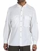 ExOfficio Mens Air Strip Lite Long Sleeve White