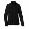 Patagonia Womens Capilene 2 Lightweight Black Zip-Neck (Close Out)