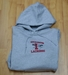 Denison University Champion Hoodie Lacrosse Grey