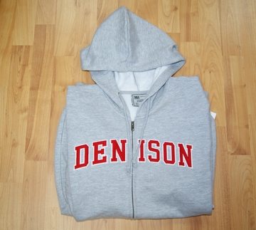 Denison Full Zip Sweatshirt Grey/ Red