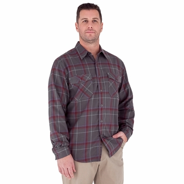Royal Robbins Mens Leadville Flannel Long Sleeve Obsidian (Autumn 2012)