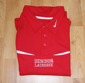 Denison Nike Lacrosse Polo Red