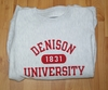 Denison University White 1831 Crew Heather White