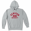 Denison University Champion Double Reverse Weave Hoodie Heather
