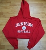 Denison Classic Softball Hoodie Red