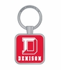 Denison Boston Keytag Red with White Imprint