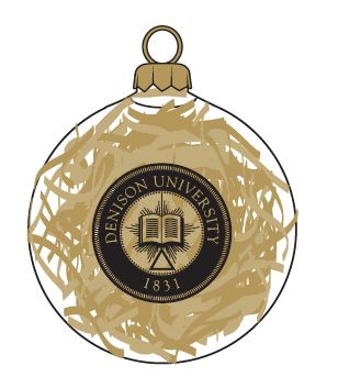 Denison University 1831 Seal Ornament with Gold Fill