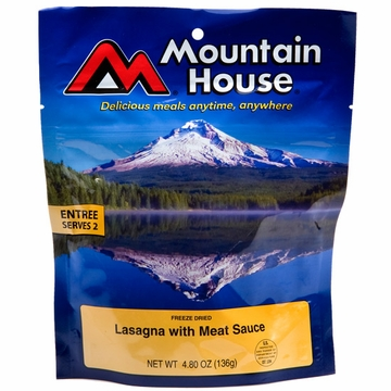 Mountain House Lasagna with Meat Sauce- Serves 2