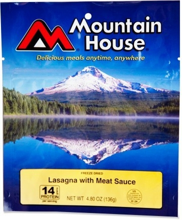 Mountain House Lasagna with Meat Sauce- Serves 4