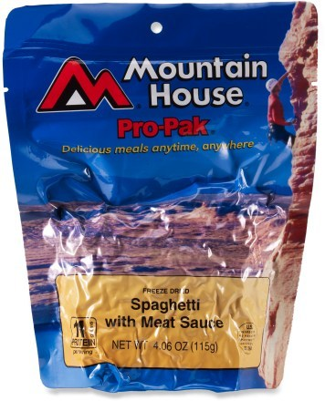 Mountain House Pro Pak Spaghetti with Meat Sauce- Serves 1