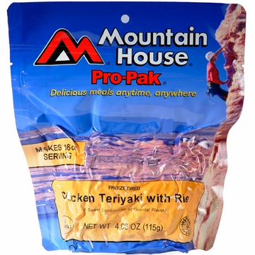 Mountain House Pro Pak Chicken Teriyaki with Rice- Serves 1