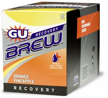 GU Recovery Brew Orange Pineapple 12 Count Box