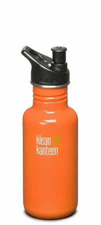 Klean Kanteen 18oz Sport Cap Bottle Orange