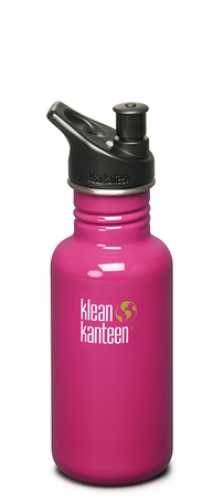 Klean Kanteen 18oz Sport Cap Bottle Active Pink