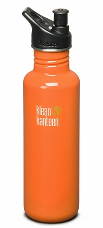 Klean Kanteen 27oz Sport Cap Bottle Commuter Orange