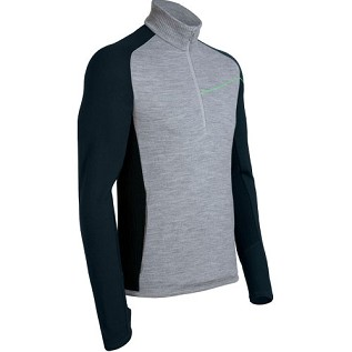 Icebreaker Mens Crosscut Long Sleeve Half Zip Metro/ Nova (Autumn 2012)