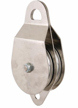 "CMI Heavy Duty Double 4"" Rescue Pulley NFPA SS Bushing"