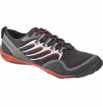 Merrell Mens Barefoot Trail Glove Black/Moltenlava (Close Out)